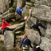Climbers on Stanage Edge by janturnbull