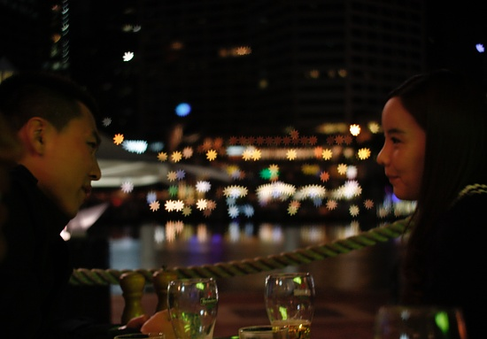 Harbourside date in the city by abhijit