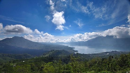 Mount Batur and Lake Batur by peterdegraaff