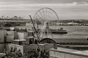 21st May 2012 - Seattle Is Adding A Giant Ferris Wheel To the Waterfront View.  Check It Out On Pier 57!