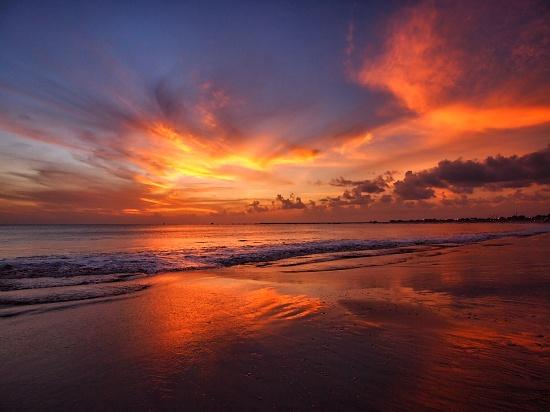 Jimbaran sunset by peterdegraaff