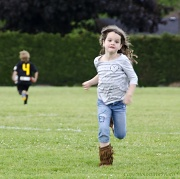 27th May 2012 - Rushing Back from Saving Her Brother with Drinks at Half time