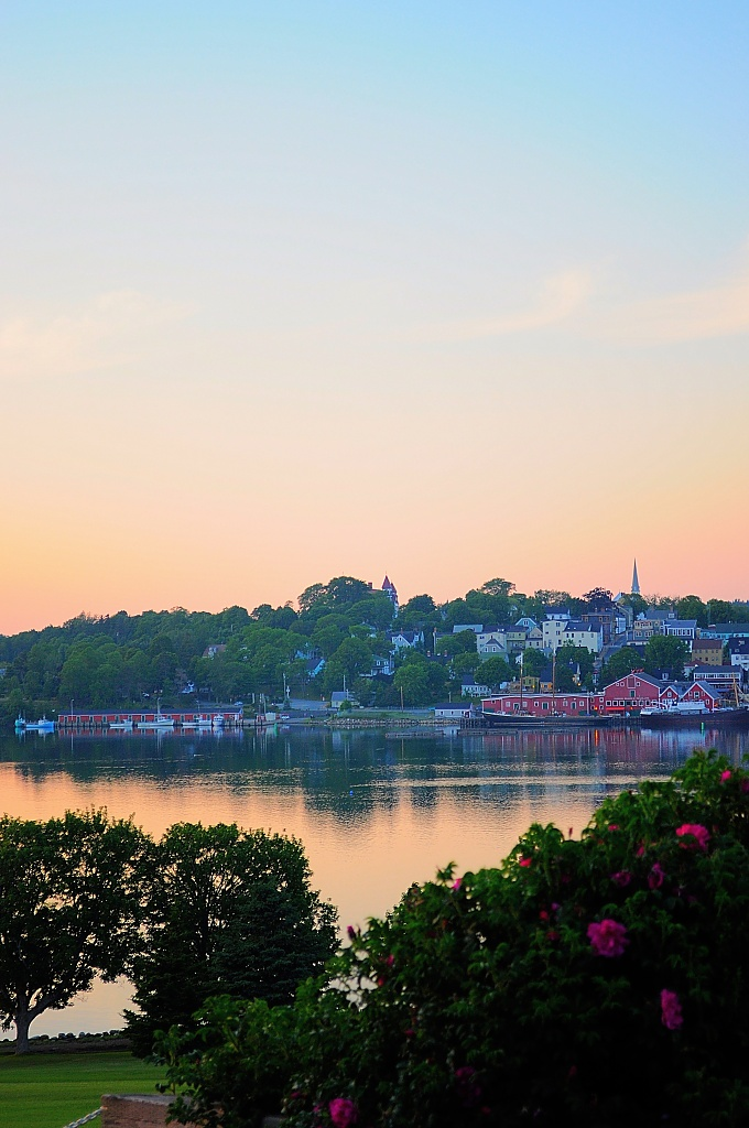 Lunenburg Harbour at Sunset by Weezilou