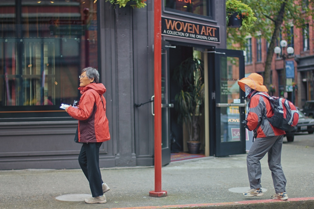 Tourists In Pioneer Square by seattle