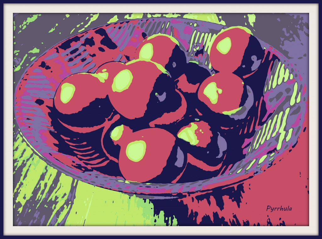 Still live with bowl and fruit by pyrrhula