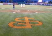22nd Jul 2012 - San Jose Giants Baseball Logo on Field