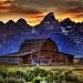 Sunset Mormon Row Teton National Park by exposure4u