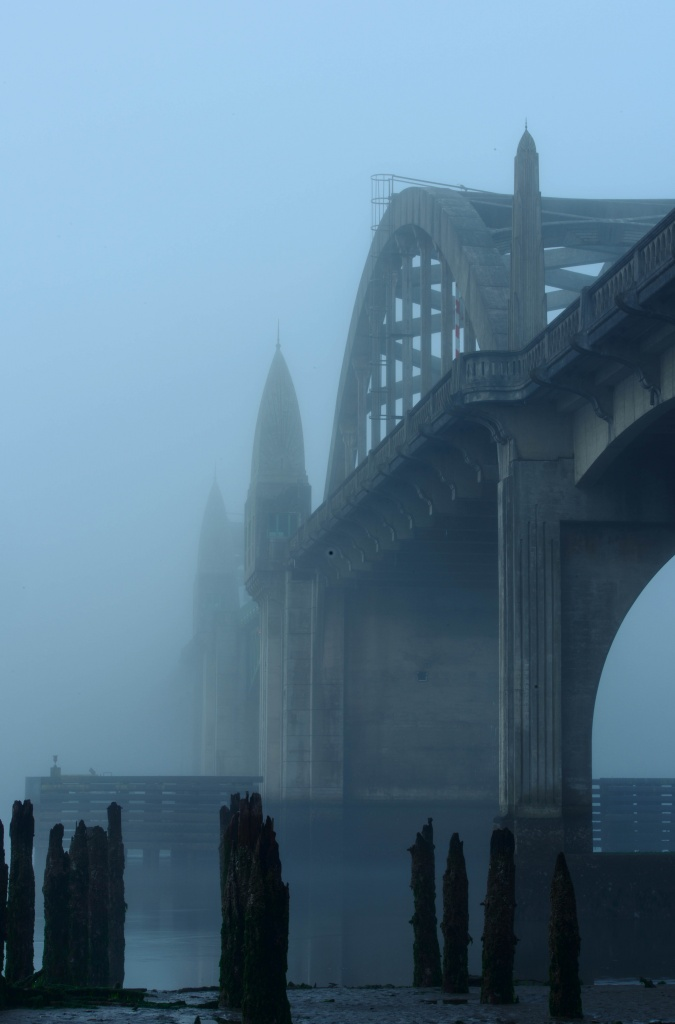 Bridge in the Fog Before Dawn by jgpittenger