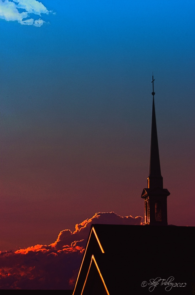 Sunset & Steeple by skipt07