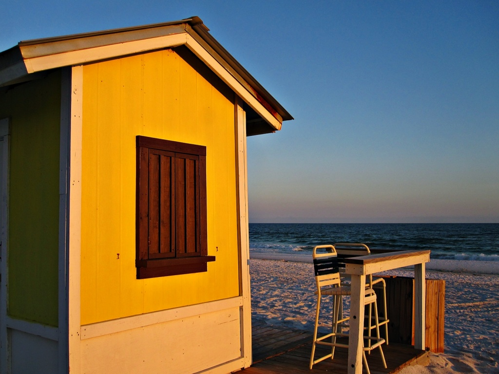 Early Evening at the Beach Hut  by soboy5