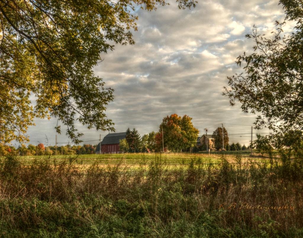 Wisconsin Fall Farm Scene by myhrhelper