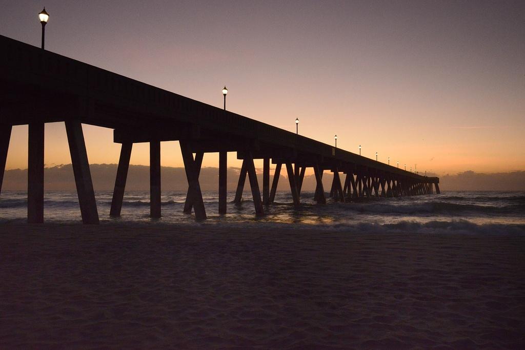 Dawn at the North Carolina Pier by jgpittenger