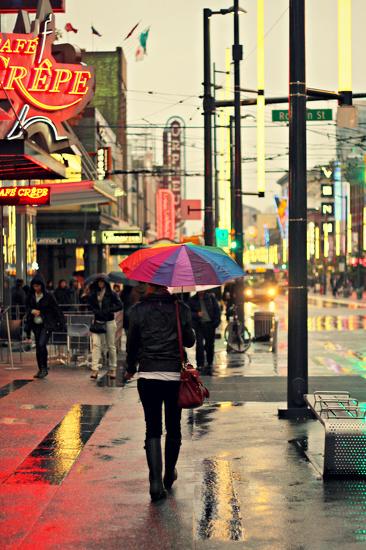 Rainbow on Granville St by kph129