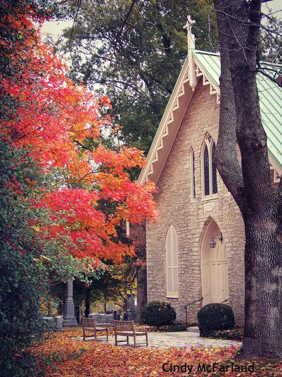 Country Church in Autumn by cindymc