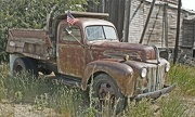 19th Jul 2012 - old truck and old glory