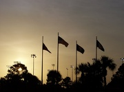 29th Jul 2012 - flags at sunset