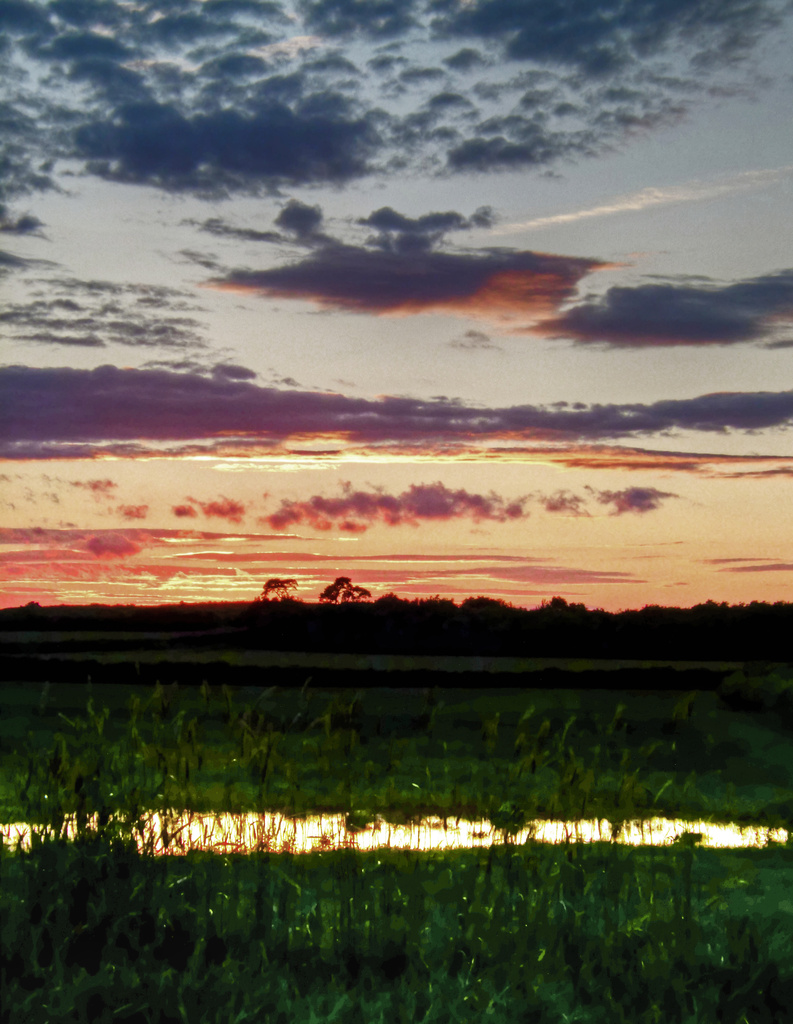 reflected sunset by jantan