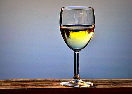 Sunset and Chardonnay ~ by peggysirk
