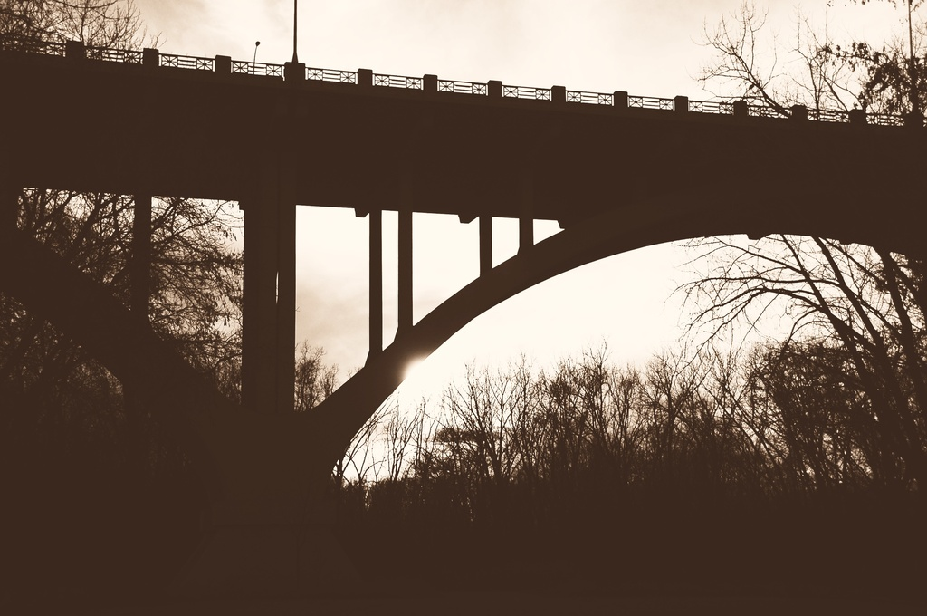 bridge silhouette by pfmandeville