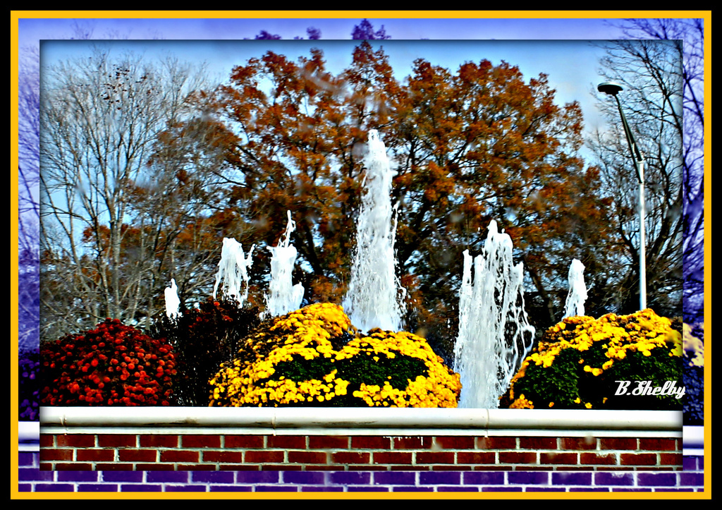 Fountains and Flowers by vernabeth
