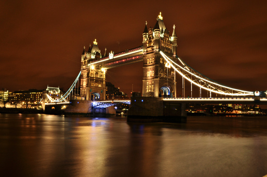 Windy Night at Tower Bridge by andycoleborn