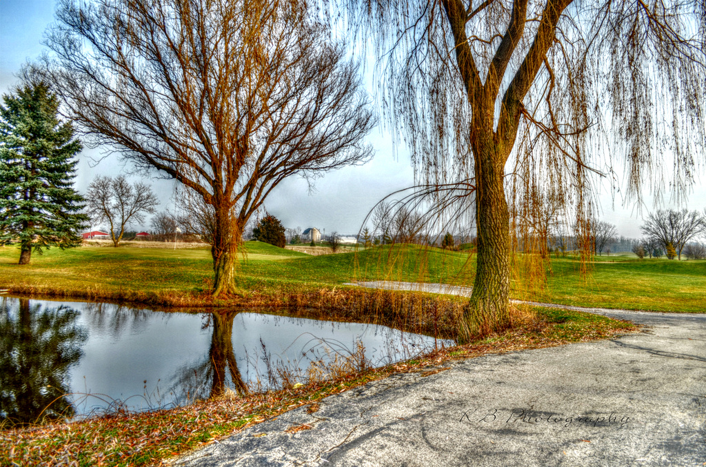 West Bend Lakes Golf in December - Please View Large if U have a moment by myhrhelper