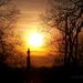 As the Sun Sets on the Cemetery  by cindymc