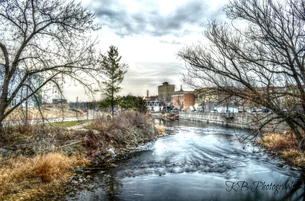 Behind Down Town West Bend by the Milwaukee River vs 1 by myhrhelper