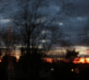 6th Dec 2012 - Sunset through the screen