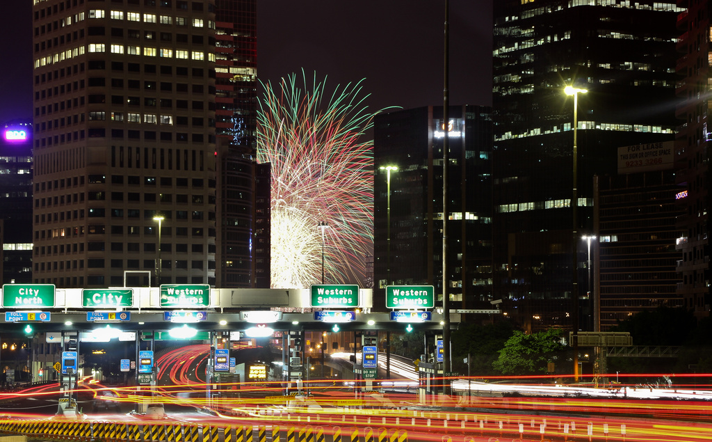 Fireworks and light trails by abhijit