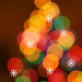Bokeh tree with baubles by mittens