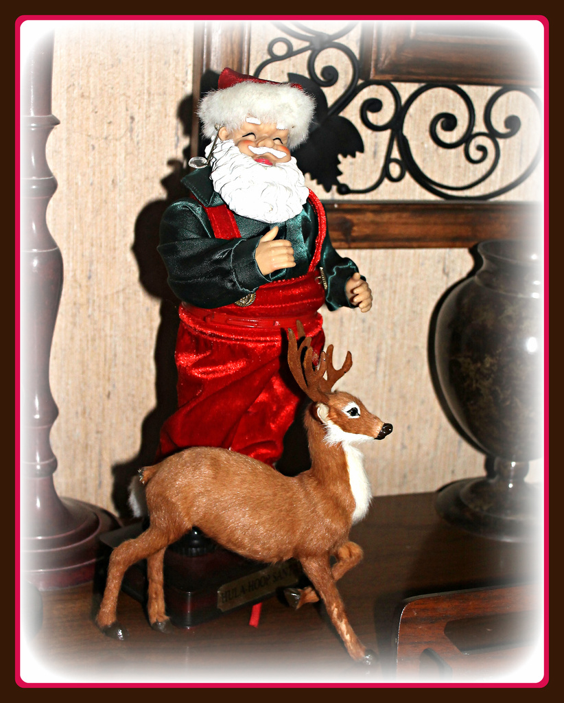 Santa and Prancer by vernabeth