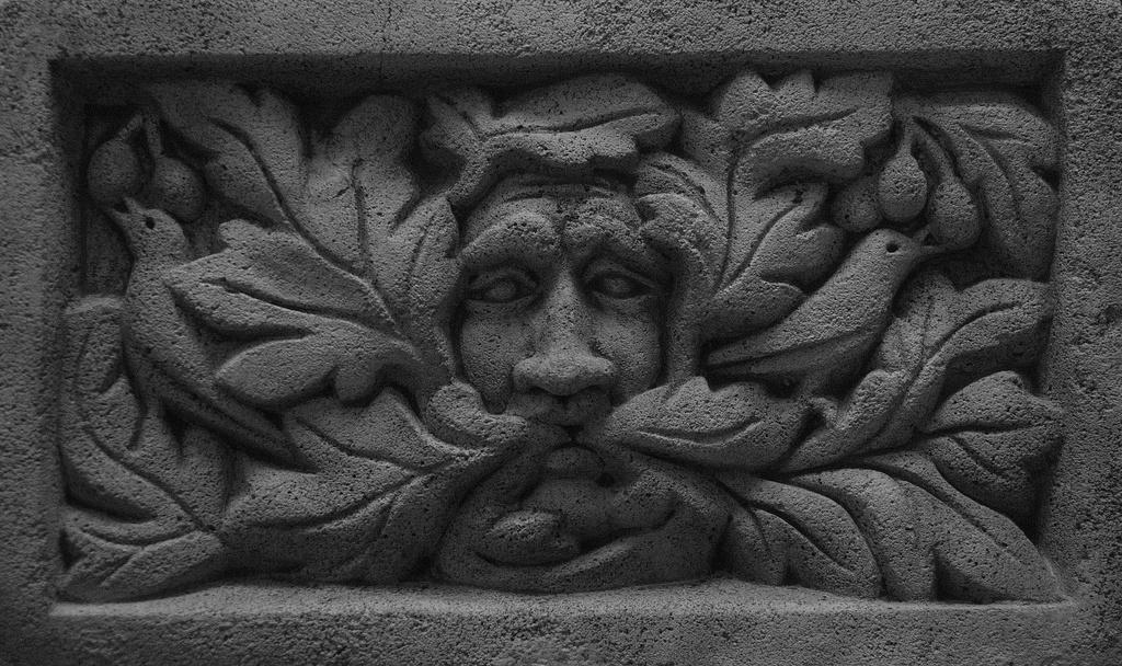 Green man in winter by dulciknit