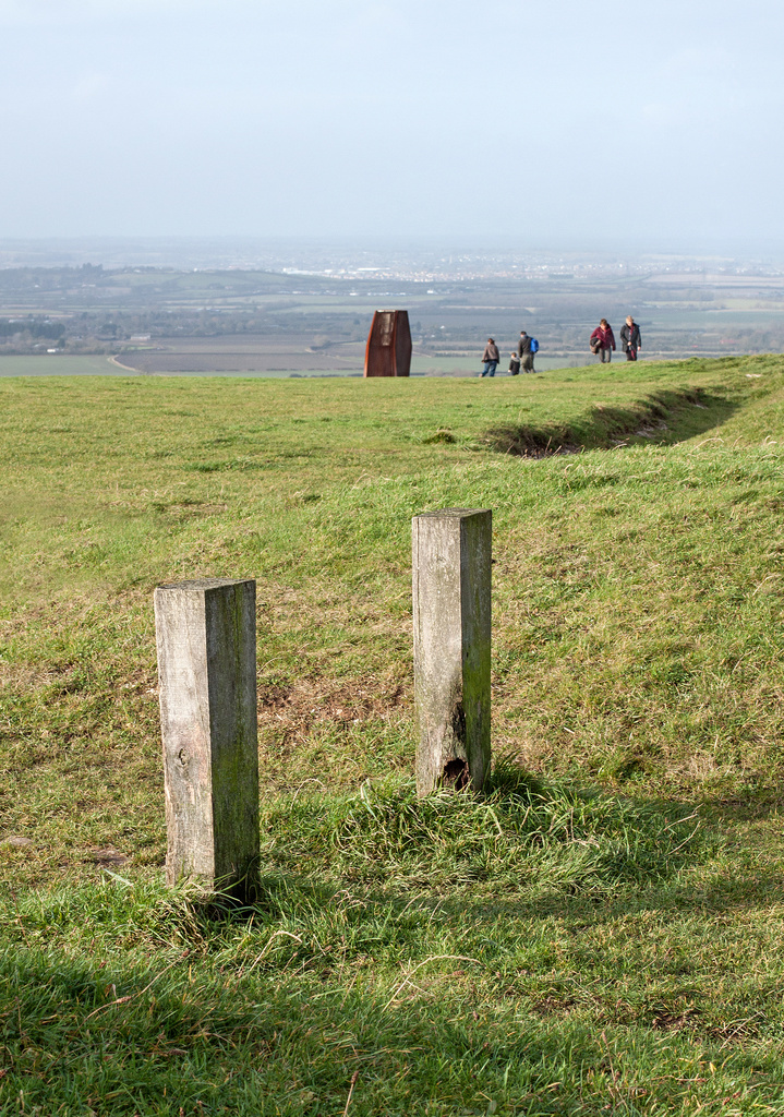 Posts and people up on the Downs by dulciknit