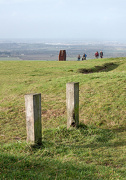 23rd Dec 2012 - Posts and people up on the Downs