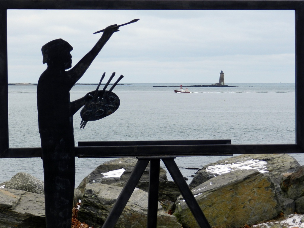Whaleback Lighthouse View by paintdipper