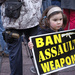 Who brings a hand gun to a Cease Fire March with children around... by seattle