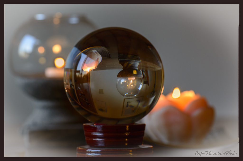Candles Reflected by jgpittenger