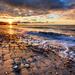 Winter Beach Sunset by abirkill