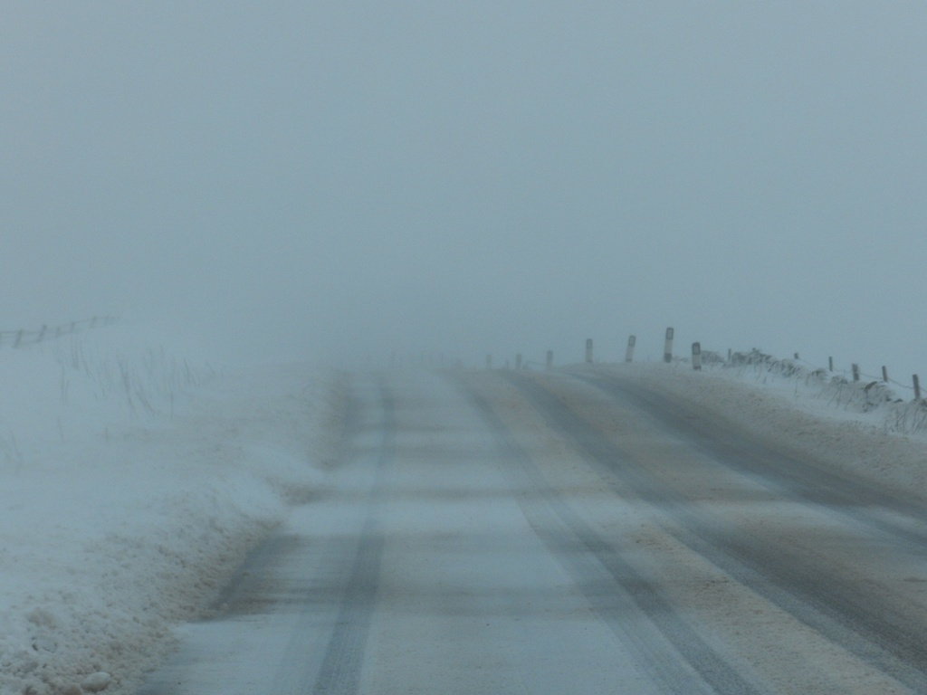 drifting snow by roachling