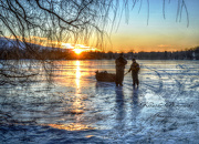 20th Jan 2013 - Fishing in Wisconsin without a boat  - looks better viewed large