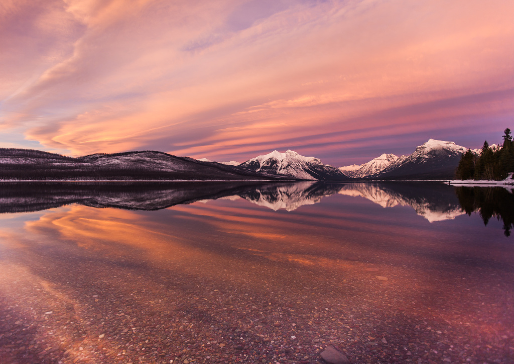 Sunset In Glacier Country by grizzlysghost