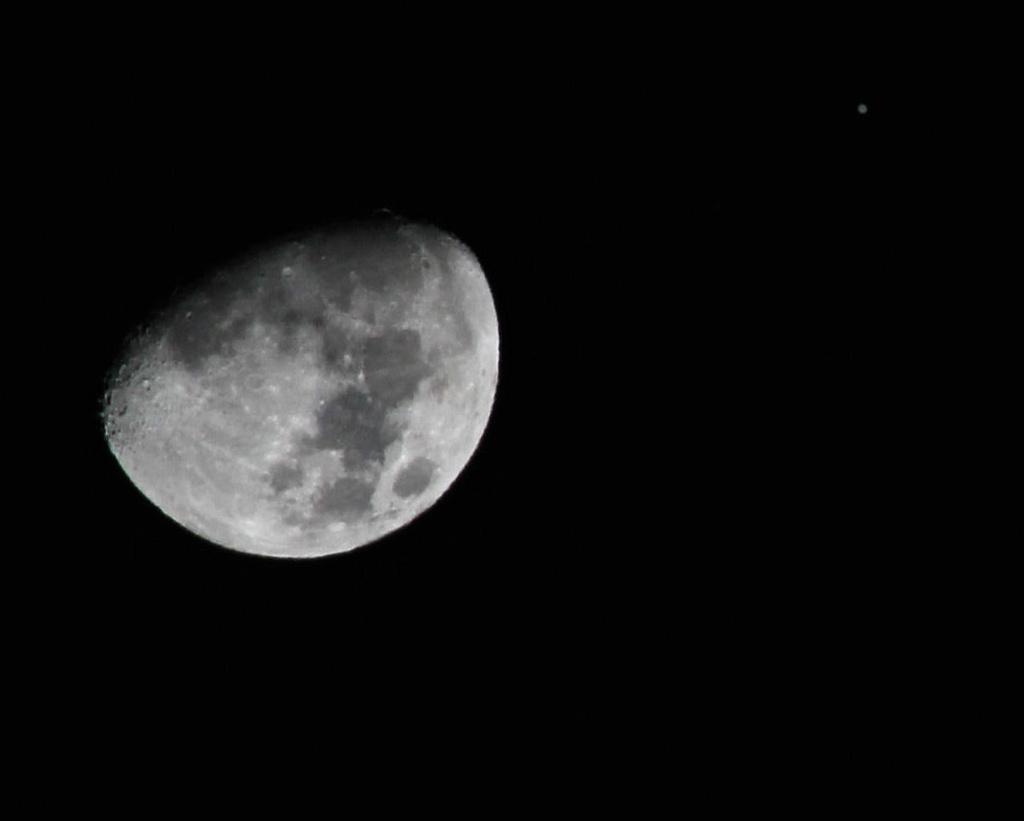 The Moon and Jupiter by cjwhite