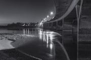23rd Jan 2013 - black and white Waldport bridge at Night