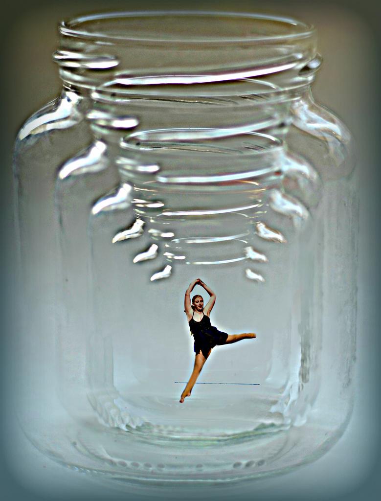 Ballerina dancing in the jar by myhrhelper