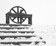 25th Jan 2013 - Cogwheel thingy in the snow