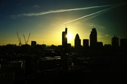 26th Jan 2013 - Some Cranes, a Heron and a Gherkin