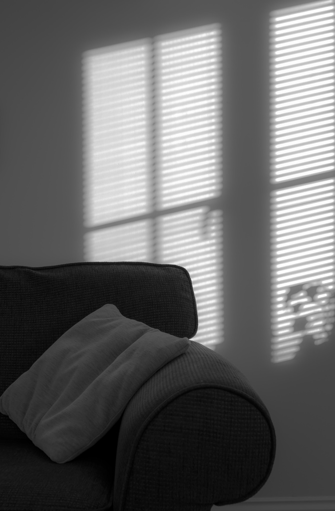 window blind in black and white by peadar