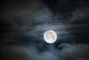 27th Jan 2013 - Cloudy Twilight Full Moon