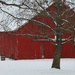 Red Barn in the Snow by cindymc